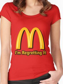 I'm Regretting It (McDonalds Parody) Women's Fitted Scoop T-Shirt