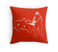 We're Here For Your Protection Throw Pillow