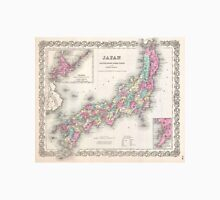 Vintage Map of Japan (1855) Unisex T-Shirt