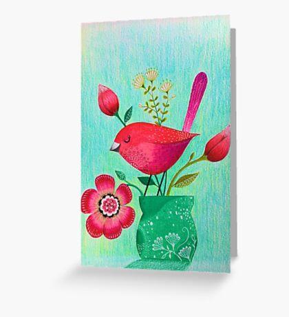 Spring Birdie Greeting Card