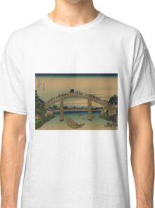 Under Mannen Bridge at Fukagawa - Hokusai Katsushika - 1890 Classic T-Shirt
