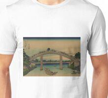 Under Mannen Bridge at Fukagawa - Hokusai Katsushika - 1890 Unisex T-Shirt