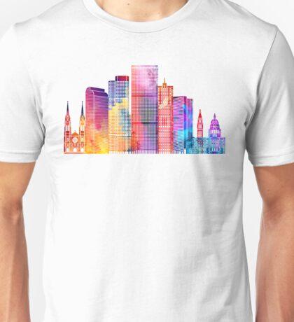 Denver landmarks watercolor poster Unisex T-Shirt