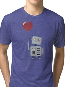 Robot in love Tri-blend T-Shirt