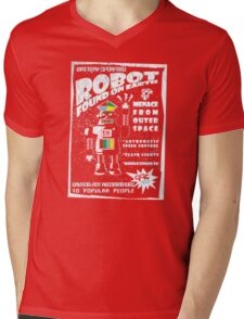 Robot found on earth Mens V-Neck T-Shirt