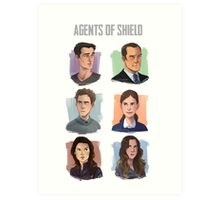 Agents of SHIELD Portraits Art Print