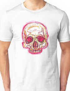 Skull abstract 01 color red Unisex T-Shirt