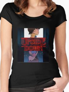 upside down streanger  Women's Fitted Scoop T-Shirt
