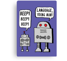 Beeping Robot Canvas Print