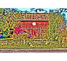 Trippy Barn Photographic Print