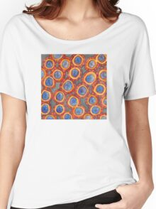 Shining Dotted Circles Pattern Women's Relaxed Fit T-Shirt