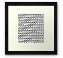 Crab Pattern Framed Print