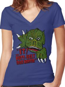 IT! Butt Ugly Space Monster Women's Fitted V-Neck T-Shirt