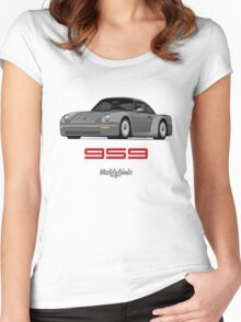 Porsche 959 Group B Prototyp (gray) Women's Fitted Scoop T-Shirt