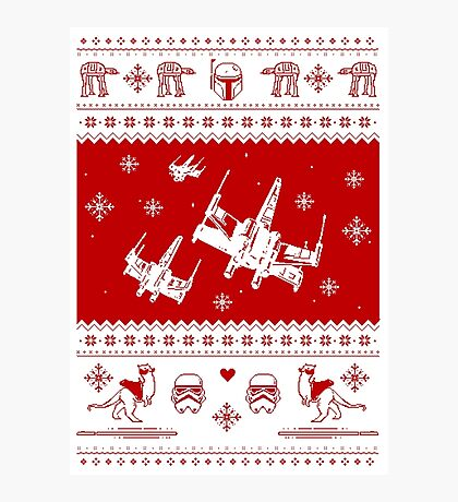 Nerd Pixel Christmas Photographic Print