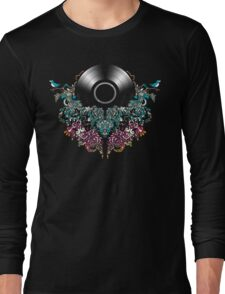 Grow - Music tee with Vintage Record Long Sleeve T-Shirt