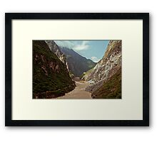 River through the mountains Framed Print