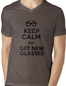 Keep calm and get new glasses Mens V-Neck T-Shirt