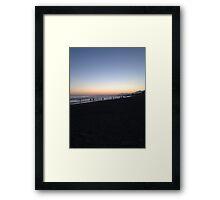 Sunset in SoCal Framed Print