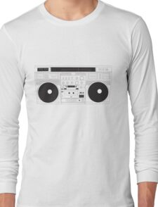 Old School Boom Box Long Sleeve T-Shirt