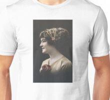 Edwardian lady in profile Unisex T-Shirt