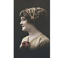 Edwardian lady in profile Photographic Print