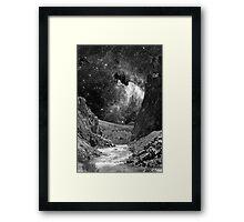 Desert Wash with Stars Framed Print