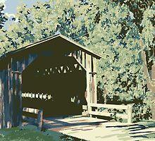 Historic Covered Bridge - Cedarburg WI (muted) by katherinepaulin