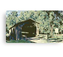Historic Covered Bridge - Cedarburg WI (muted) Canvas Print