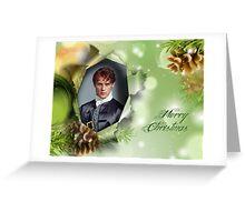 Jamie Christmas frame Greeting Card