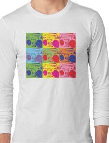 80s Boombox Pop Art Long Sleeve T-Shirt