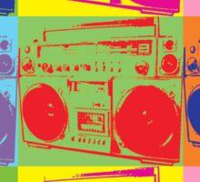 80s Boombox Pop Art Sticker