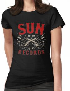 Sun Records Sparkling  Womens Fitted T-Shirt