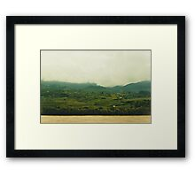 The river touching the clouds Framed Print