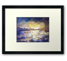 Step outside, abstract art painting Framed Print