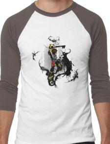 Simple and Clean Men's Baseball ¾ T-Shirt
