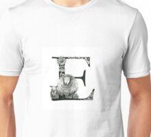 Alphabet Letter E Unisex T-Shirt