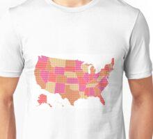 United States Map - Red Unisex T-Shirt