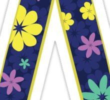 Flower Letter W Sticker
