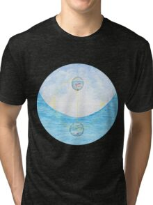 Surreal Fish And Bird Painting Tri-blend T-Shirt