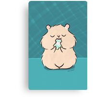 Christmas Cookie Hamster Canvas Print