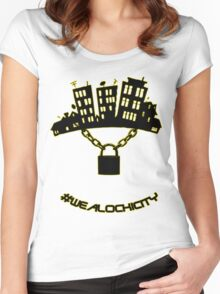 #WEALOCKICITY BLK&GLD EDITION Women's Fitted Scoop T-Shirt