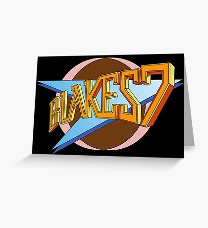 Blake's 7 Greeting Card
