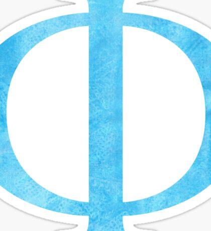 blue phi Sticker