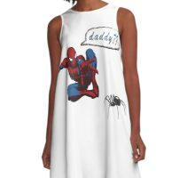 Spiderman - Are you my daddy? A-Line Dress