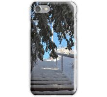 Snow Covered Stairs iPhone Case/Skin