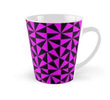 Black And Cerise Pink Retro Geometric Angular Shapes Patterned Design Tall Mug