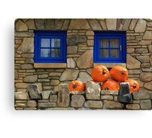 Blue Windows and Pumpkins Canvas Print