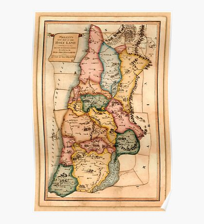 Map Of The Holy Land 1815 Poster