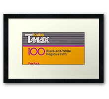 Camera Film Kodak TMax Vintage Film Framed Print